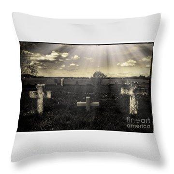 Prairie Graves Throw Pillow by Jean OKeeffe Macro Abundance Art