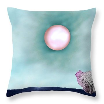 Prairie Moon Throw Pillow