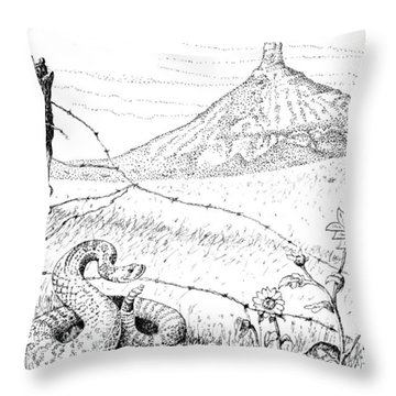 Prairie Rattler Throw Pillow