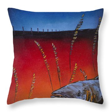 Prairie Salmon Throw Pillow