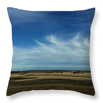 Prairie Spring Throw Pillow