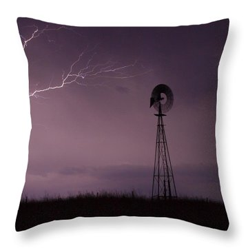 Prairie Storm Throw Pillow