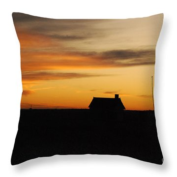 Prairie Sunset Throw Pillow by Mary Carol Story