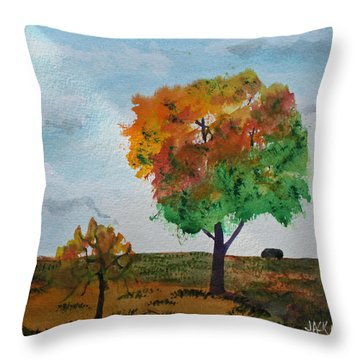 Prairie Tree Throw Pillow