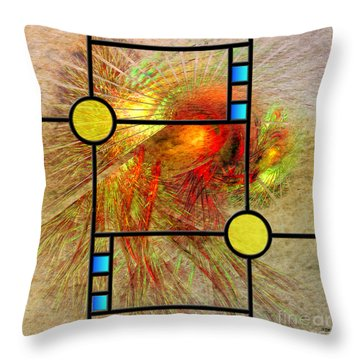 Prairie View - Square Version Throw Pillow