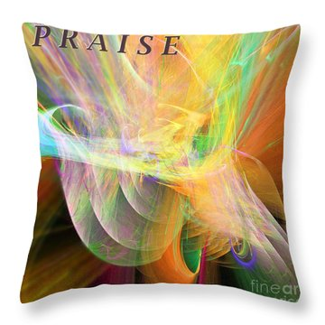 Throw Pillow featuring the digital art Praise by Margie Chapman