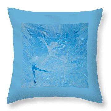 Praise The Lord Dance Throw Pillow by Susan Harris