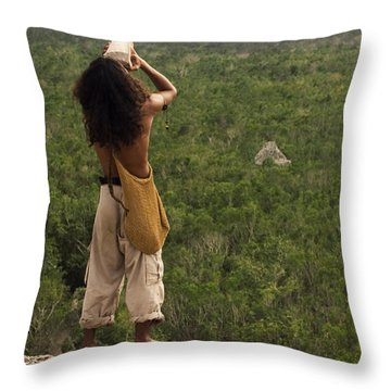 Praising The Gods Throw Pillow by Adam Romanowicz