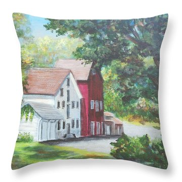 Prallsville Mill  Throw Pillow