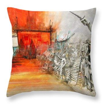 Prambanan Temple Compounds Throw Pillow