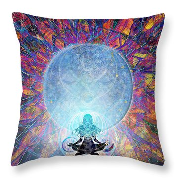 Throw Pillow featuring the digital art Prana by Kenneth Armand Johnson