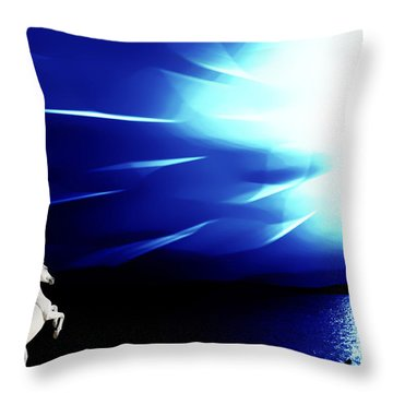 Prancing In The Night Throw Pillow