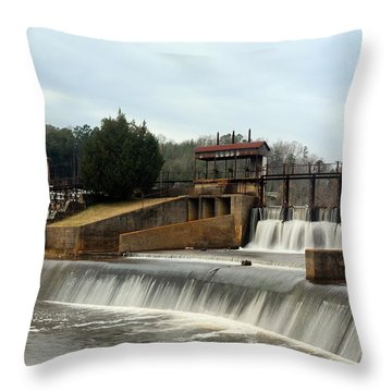 Prattville Dam Prattville Alabama Throw Pillow