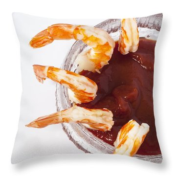 Prawn Cocktail Throw Pillow