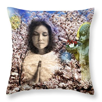Pray For Peace Throw Pillow