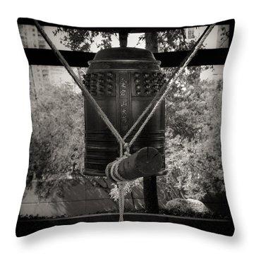 Prayer Bell Throw Pillow by Darryl Dalton