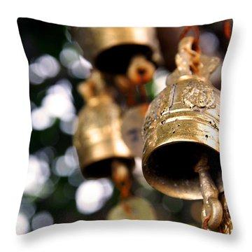 Prayer Bells Throw Pillow by Kaleidoscopik Photography