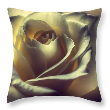 Prayer Candle Rose Throw Pillow
