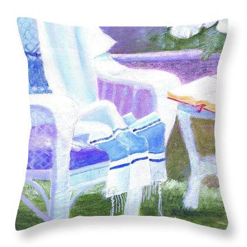 Prayer Chair Throw Pillow