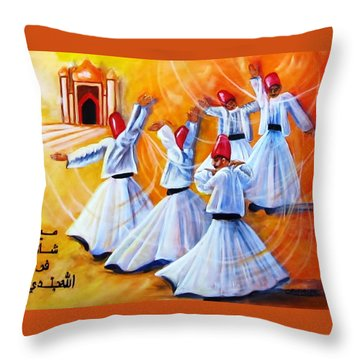 Prayer Circles Throw Pillow by Carol Allen Anfinsen