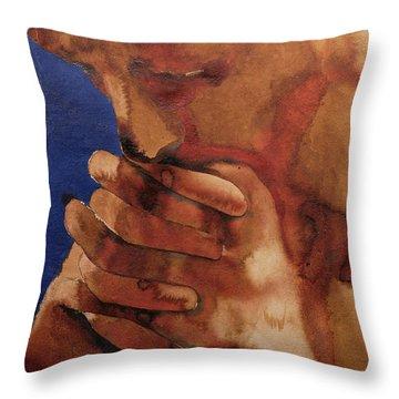 Prayer Throw Pillow by Graham Dean