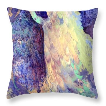 Prayer Throw Pillow by Marilyn Jacobson