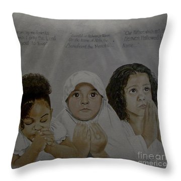 Prayer Time Throw Pillow
