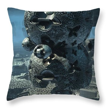 Prayer Wheel Throw Pillow
