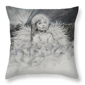 Prayers To An Angel Throw Pillow
