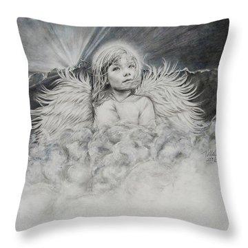 Prayers To An Angel Throw Pillow