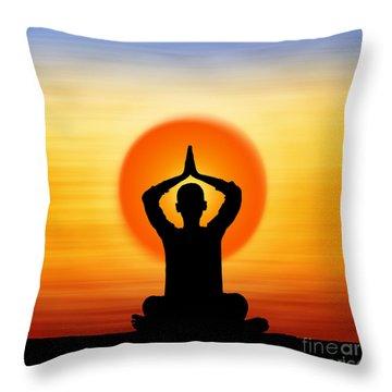 Prayers To The Sun Throw Pillow