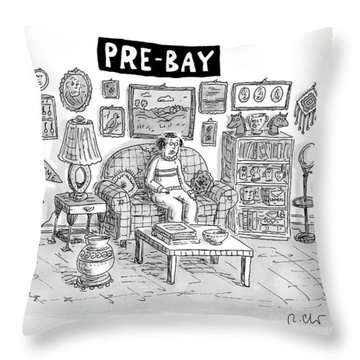 Pre-bay -- A Man Sits In Living Room Full Throw Pillow