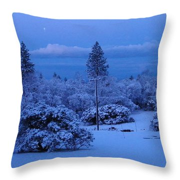 Pre-dawn Light Throw Pillow by Tom Mansfield