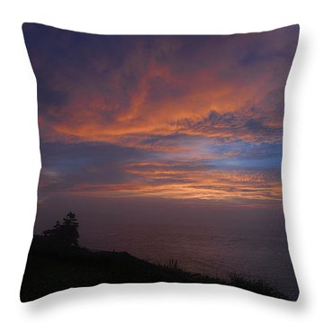 Pre Dawn Lighthouse Sentinal Throw Pillow by Marty Saccone