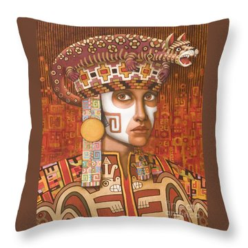 Pre-inca 1 Throw Pillow by Jane Whiting Chrzanoska