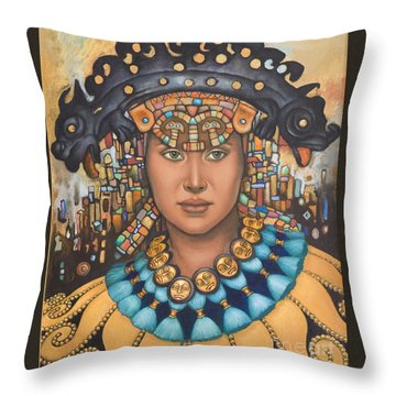 Pre-inca 3 Throw Pillow by Jane Whiting Chrzanoska
