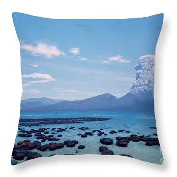 Precambrian Stromatolites Throw Pillow by Chase Studio