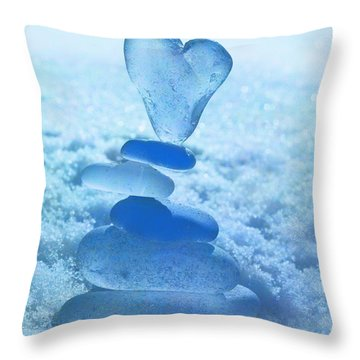 Precarious Heart Throw Pillow