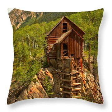 Precarious Perch Throw Pillow by Adam Jewell