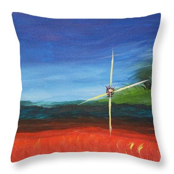 Precious And Precarious Throw Pillow by Geeta Biswas
