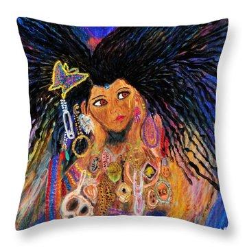Precious Fairy Child Throw Pillow