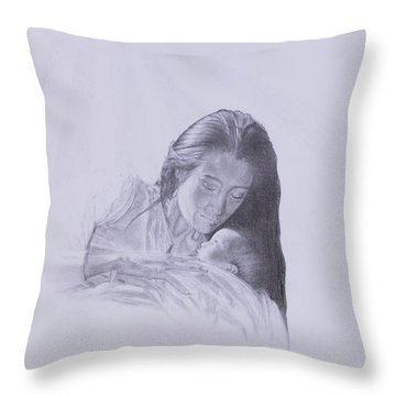 Precious Gift From The Life Of Jesus Series Throw Pillow by Susan Harris