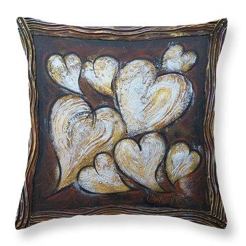 Precious Hearts 301110 Throw Pillow by Selena Boron