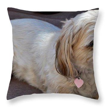 Precious  Throw Pillow by Kristina Deane