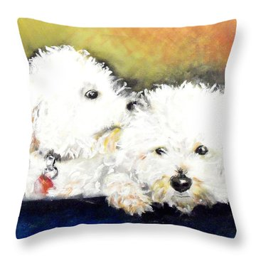 Precious Throw Pillow by Marcello Cicchini