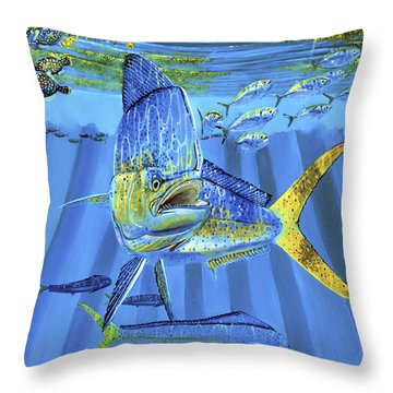 Predator Off0067 Throw Pillow by Carey Chen