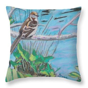 Pregnant Mockingbird Throw Pillow