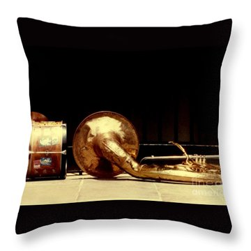 Prelude To New Orleans Jazz Throw Pillow by Michael Hoard