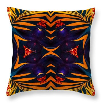 Throw Pillow featuring the digital art Premiere Abstract 2 by Gayle Price Thomas