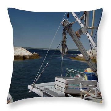 Throw Pillow featuring the digital art Prep Work by Kelvin Booker